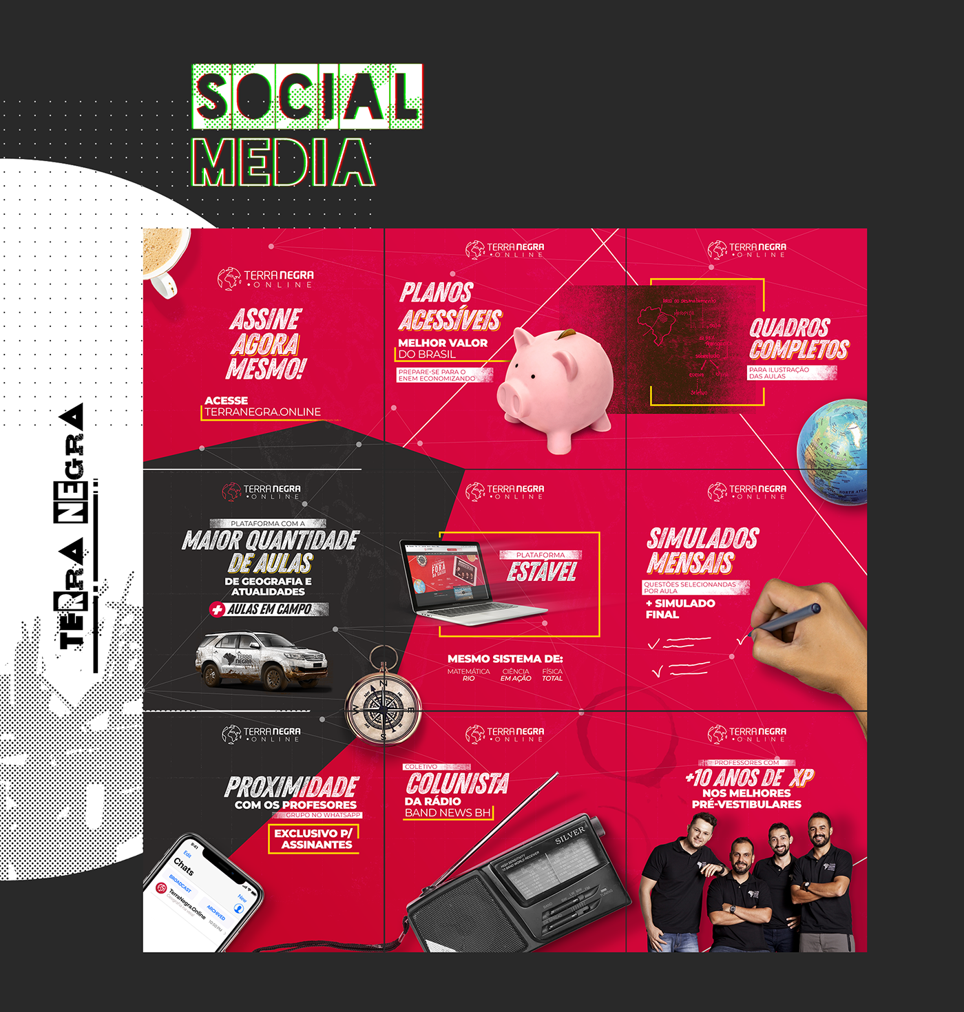 Qi Pré-vestibular terra negra social media Colapso Digital colapso portfolio Web Design