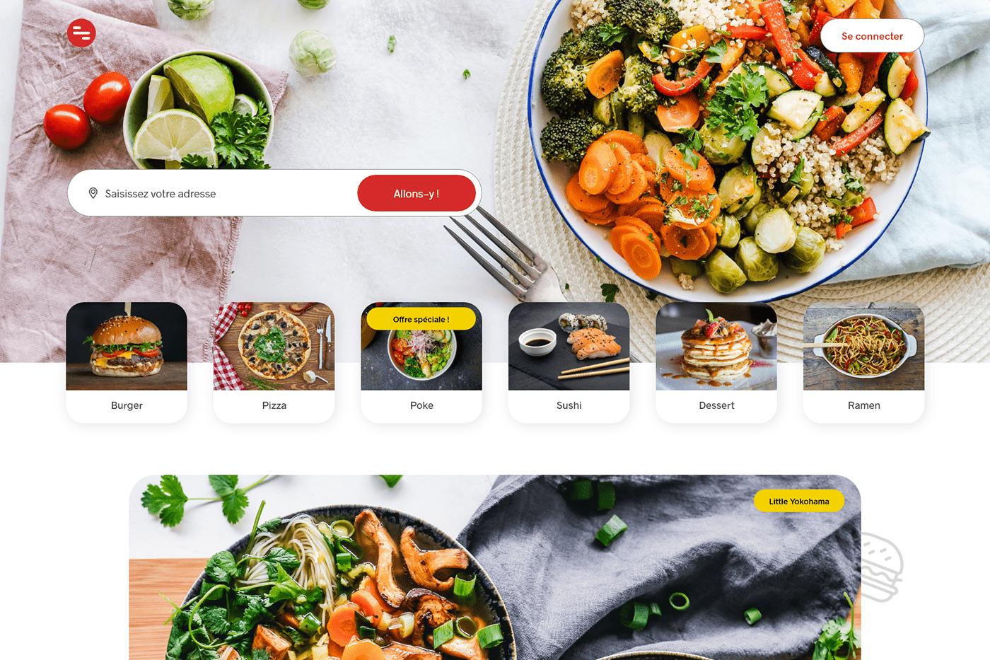 delivery Food  UI Webdesign