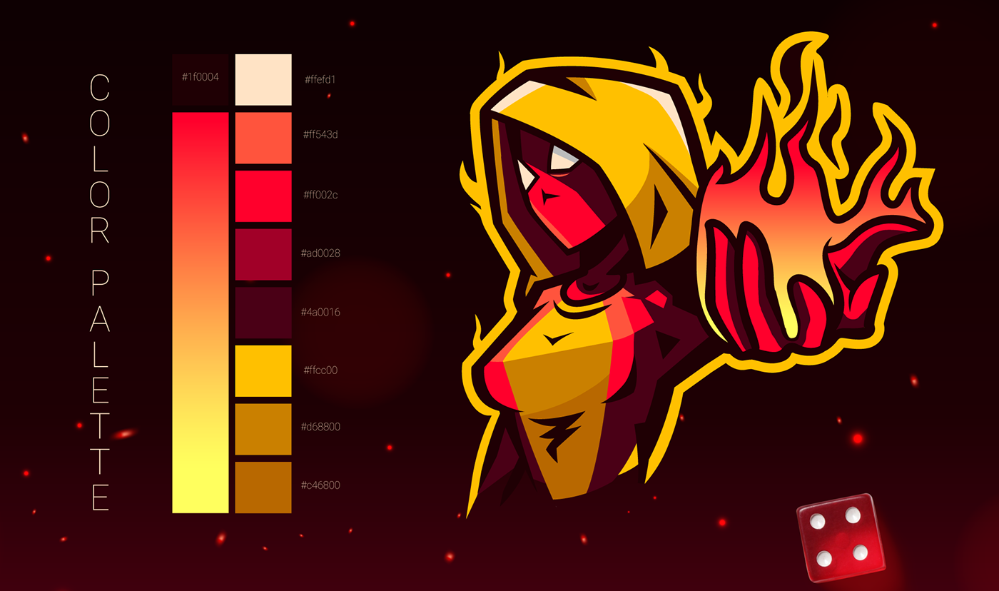 color palette for a twitch branding