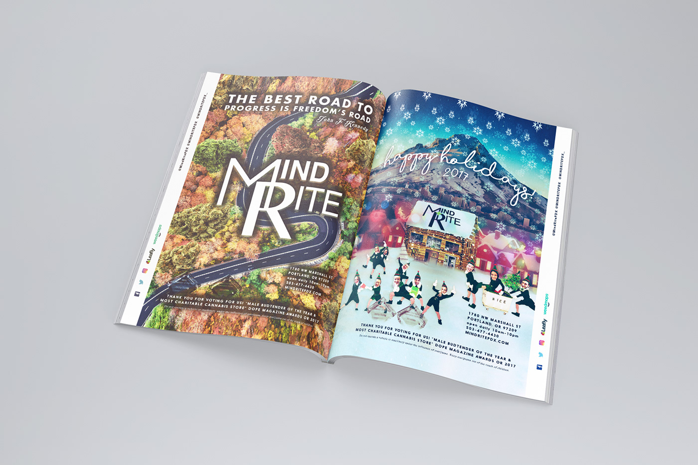 weed cannabis print design  advertisement graphic design  art direction  Portland PNW seattle