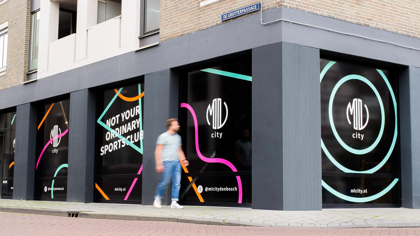 brand strategy branding  logo Logo Design neon neon lights signing sports Sports Design visual identity