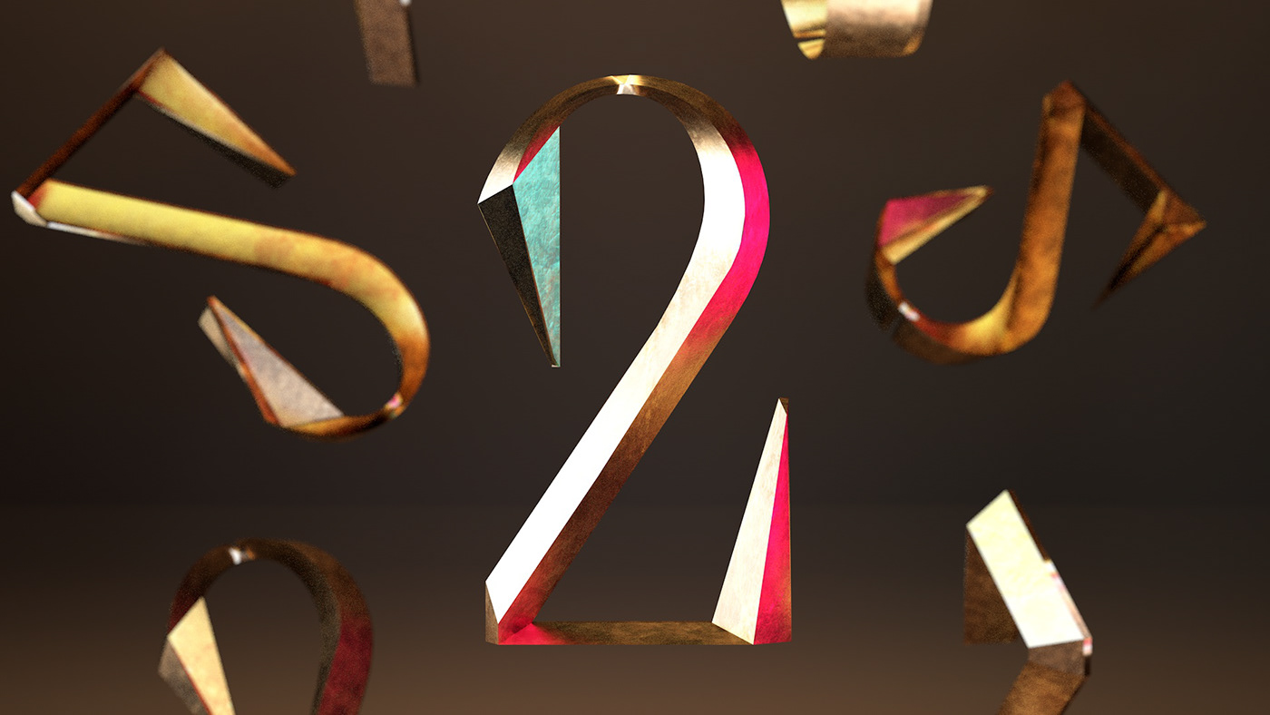 36daysoftype 3D Character cinema4d font kinetic motion type typography
