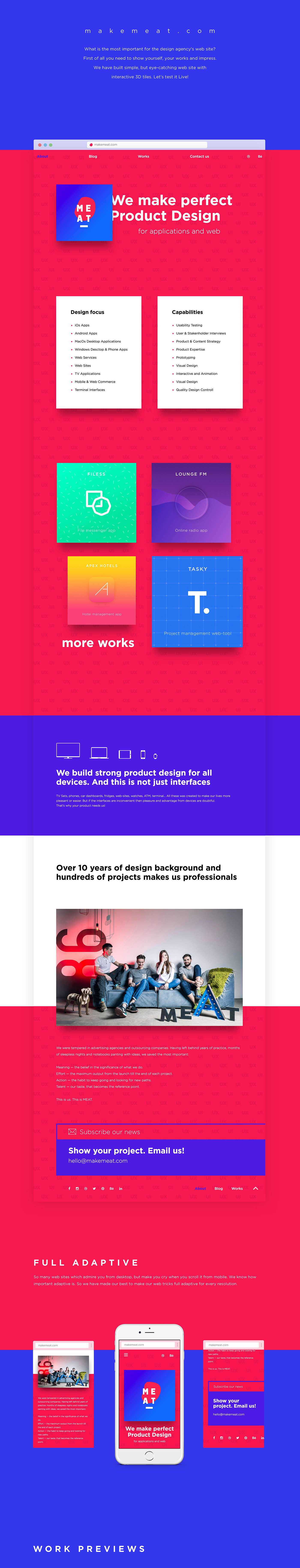 meat agency web site on behance