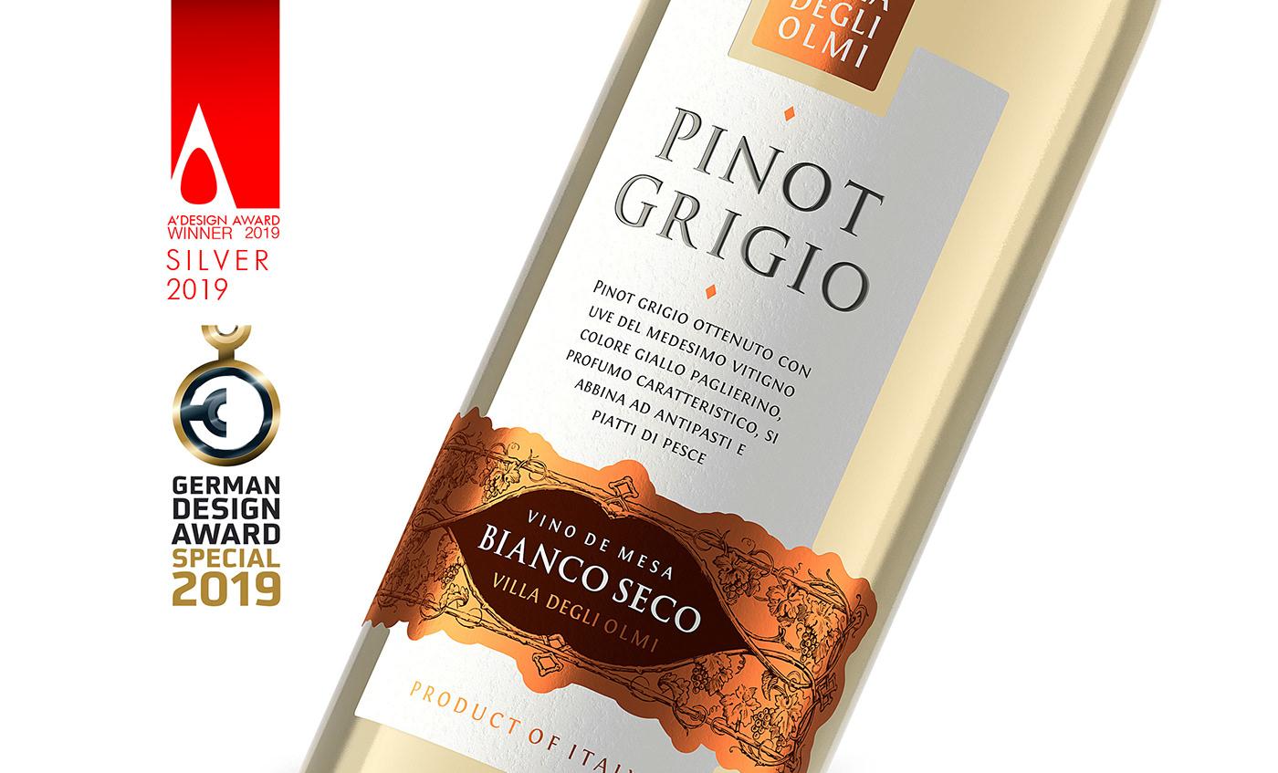 shumilovedesign valerii sumilov pinot grigio italian wine wine label design packaging design Packaging graphic design