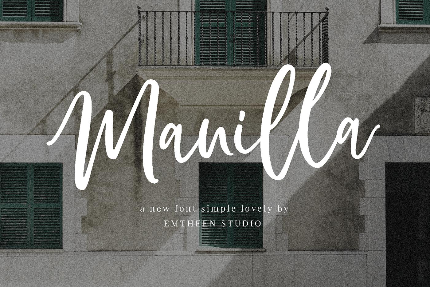 Шрифт – Manilla