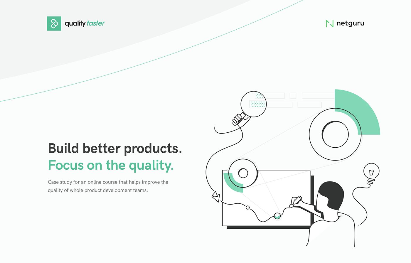 online guide webapp Responsive ILLUSTRATION  Developers Quality netguru course learning Platform