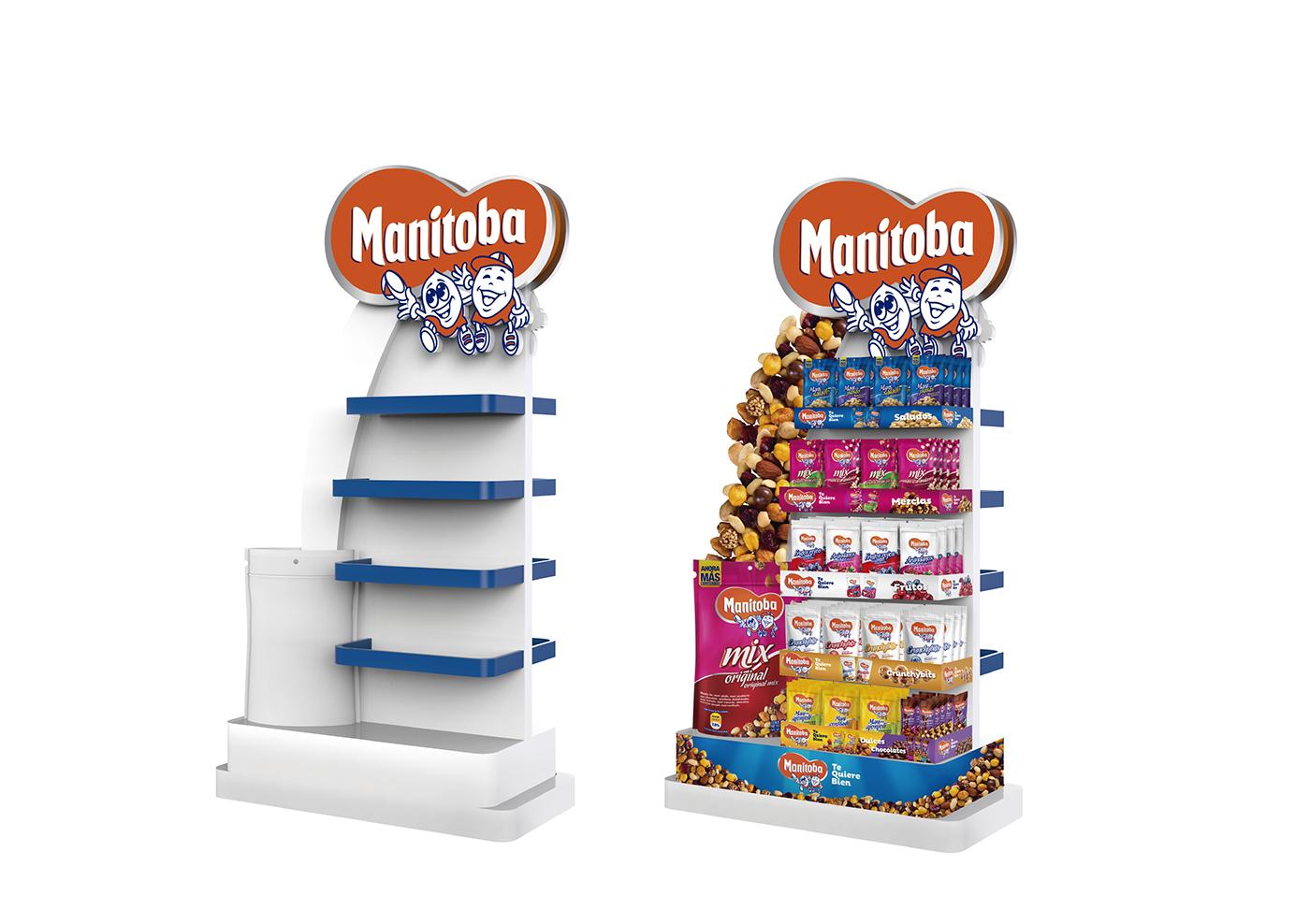 modeling 3D exhibidores packing empaque manitoba mani