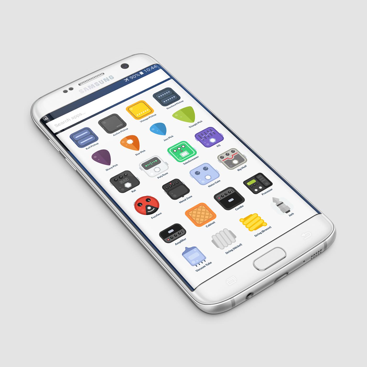 icons flat music guitar free download Icon set Pack Illustrator