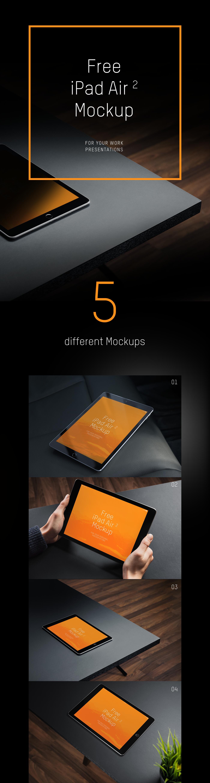 iPad air2 Mockup mockups device tablet iPadAir2 black free download