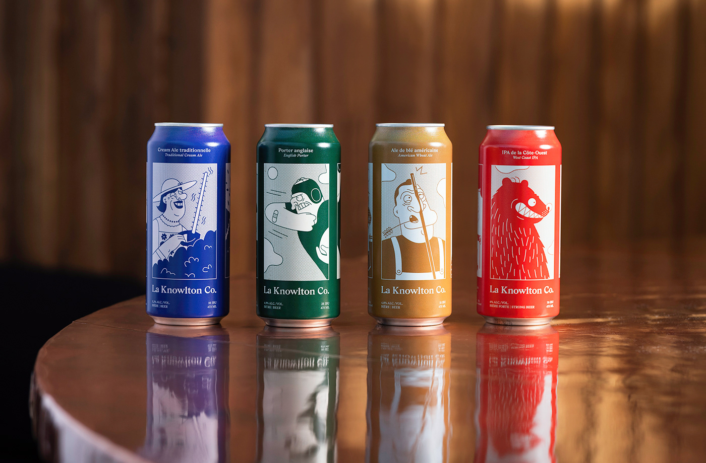 beer bière ILLUSTRATION  Packaging applied arts Communication Arts animation  branding  brewery design