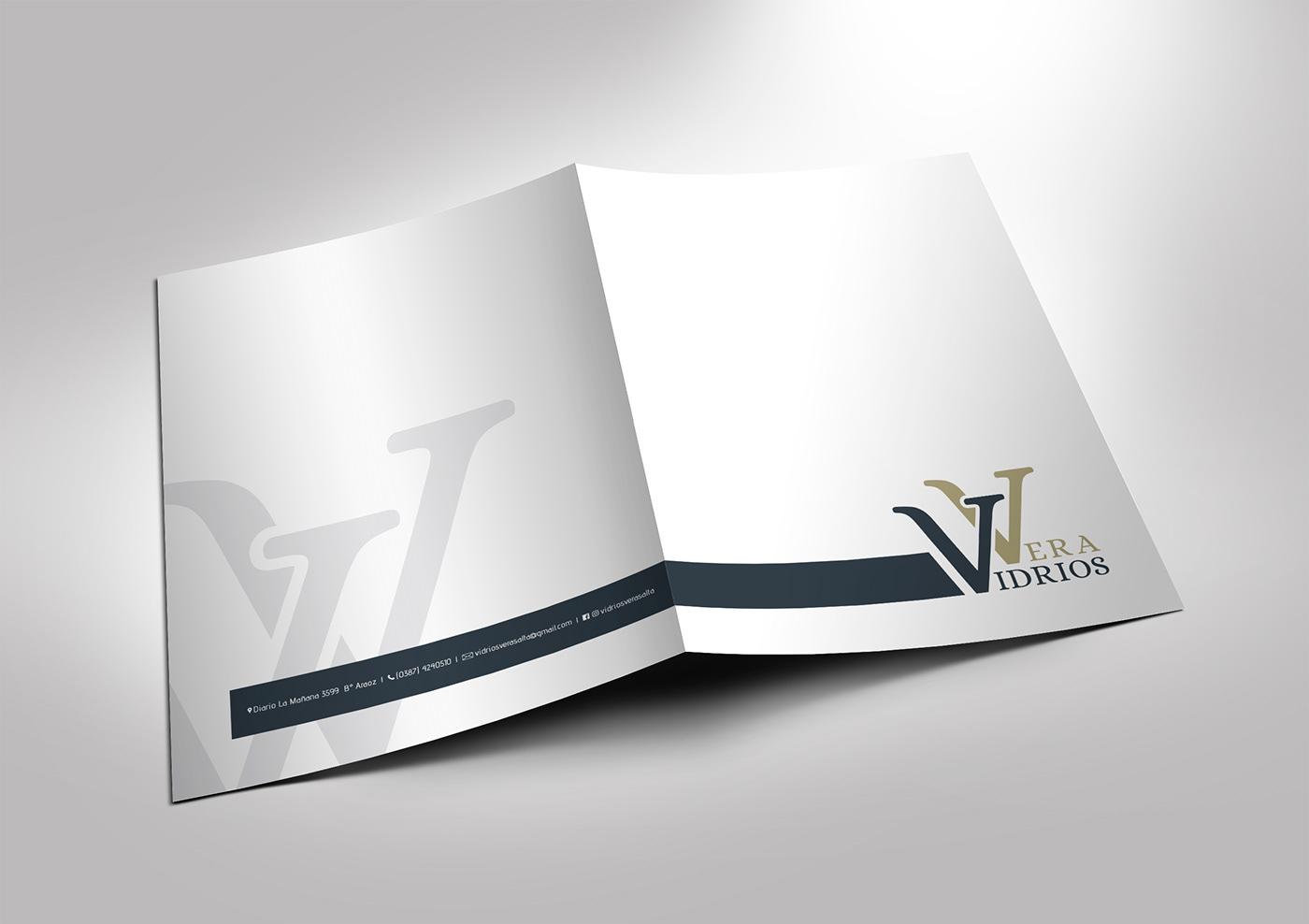 carpeta institucional Illustrator logo Manual de Marca tarjetas personales