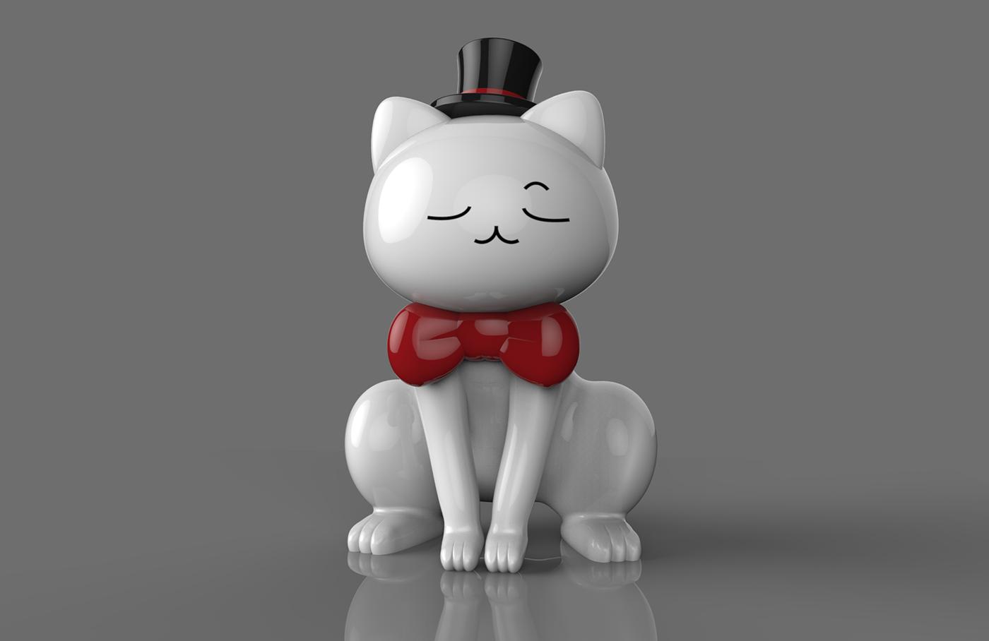 Cat Alias keyshot Accessory 3dmodeling 3D