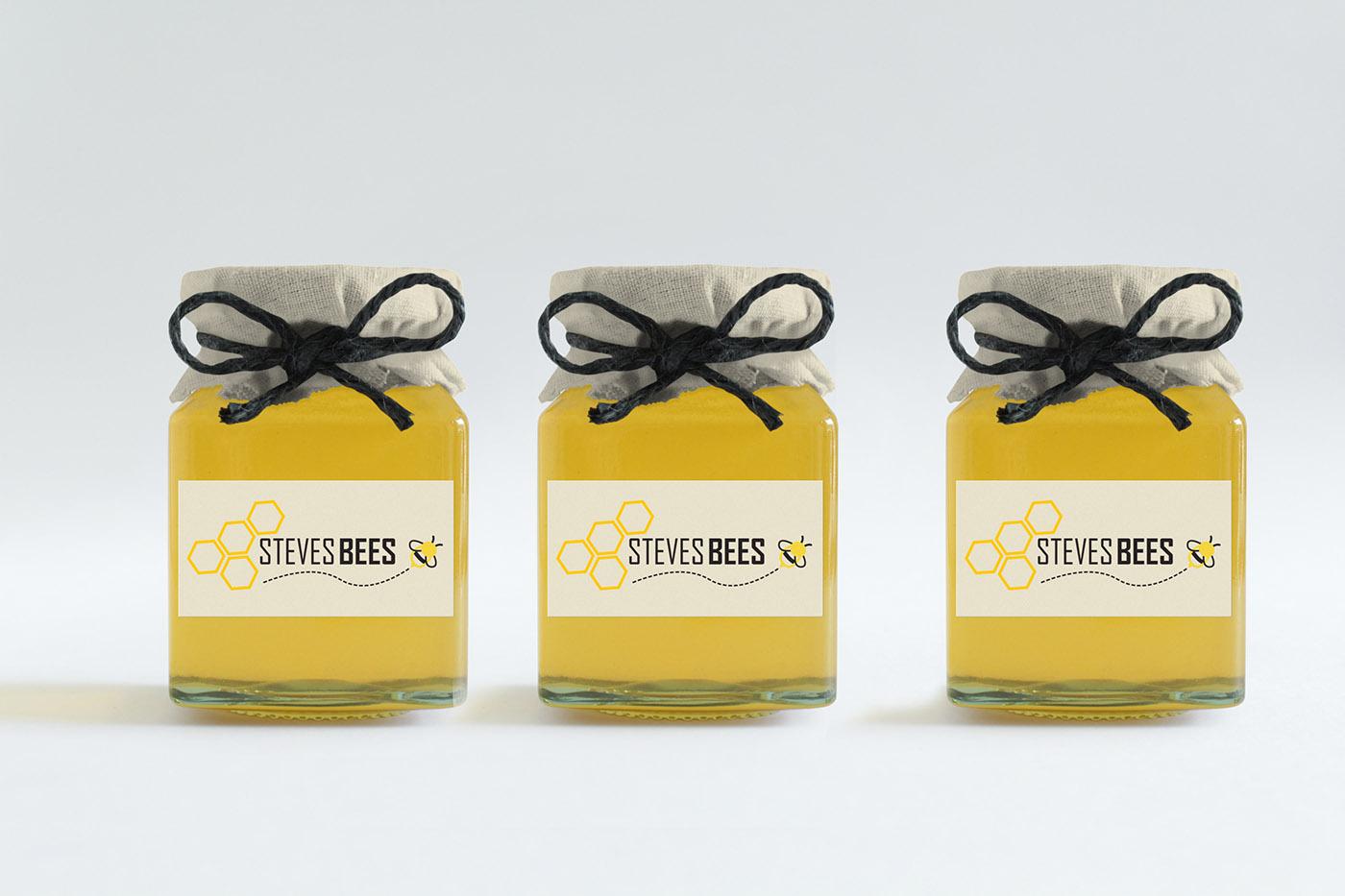 Steve\'s Bees Branding on Behance