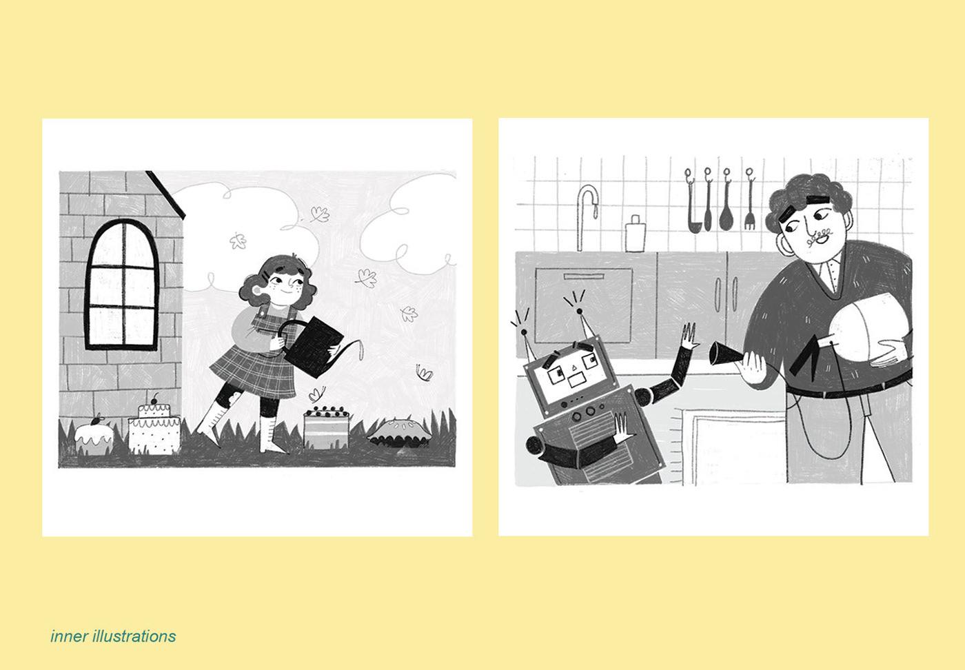 art black and white children books ILLUSTRATION  Middle grade