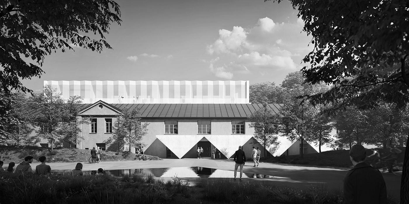 bw black and white Monochromatic CGI photorealism archviz architecture Competition vivid-vision vivid