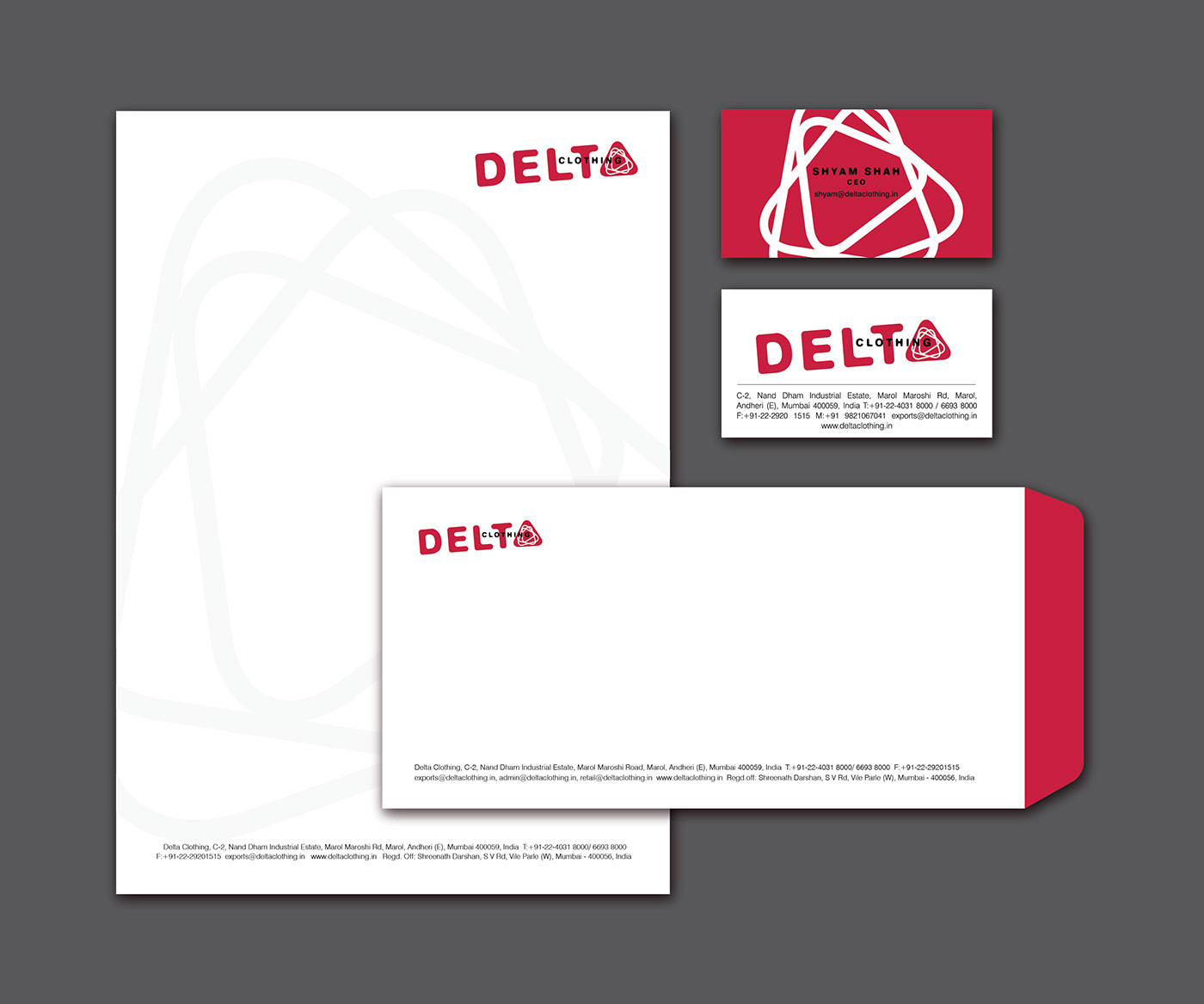 Delta clothing on behance stationery biocorpaavc