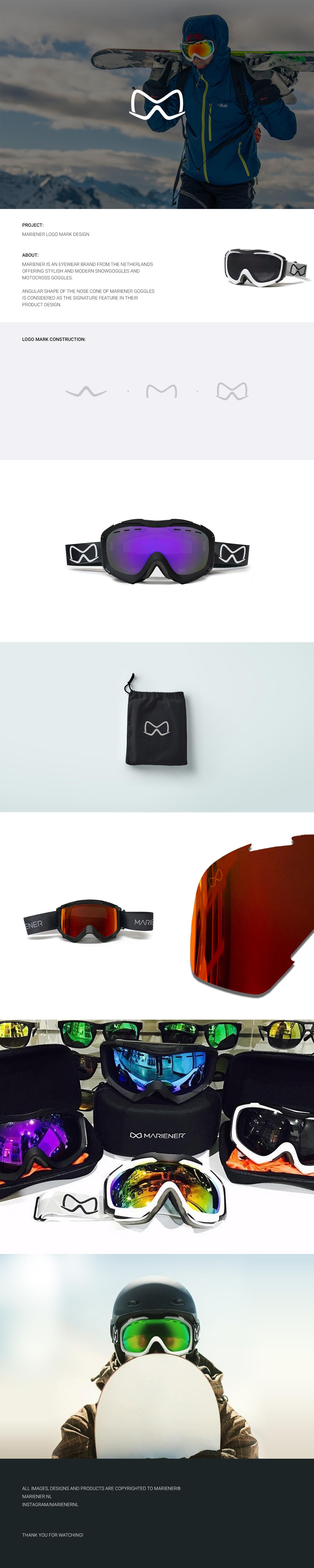 mariener Sunglasses goggles snow Motocross lettermark simple minimal Netherlands
