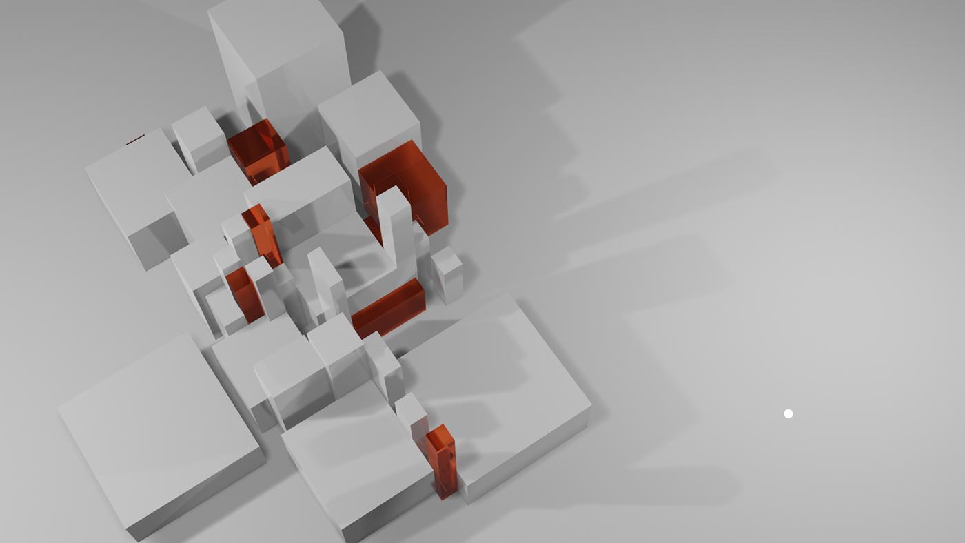 3D blender branding  Interaction design  landing page SAAS UI ux