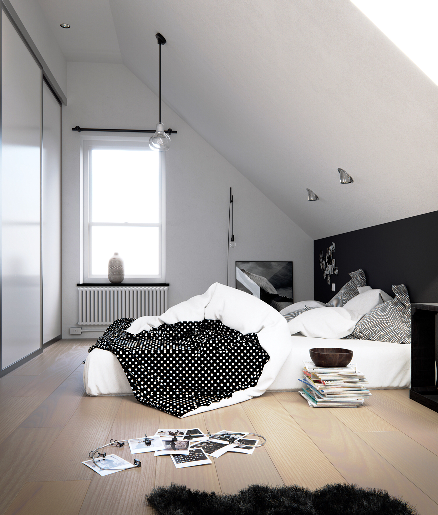 Swedish style bedroom cgi on behance for Interior design jobs in florence italy
