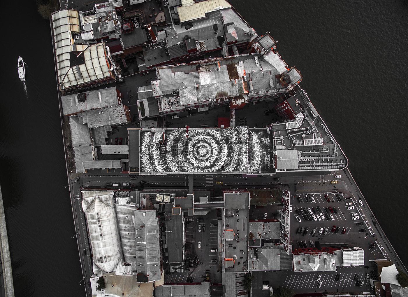 pokras pokras lampas calligraffiti artwork huge rooftop Voogie Red october Russia покрас