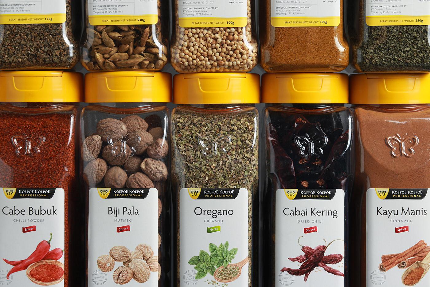 kitchen Packaging spice branding  herbs ILLUSTRATION  label design watercolor