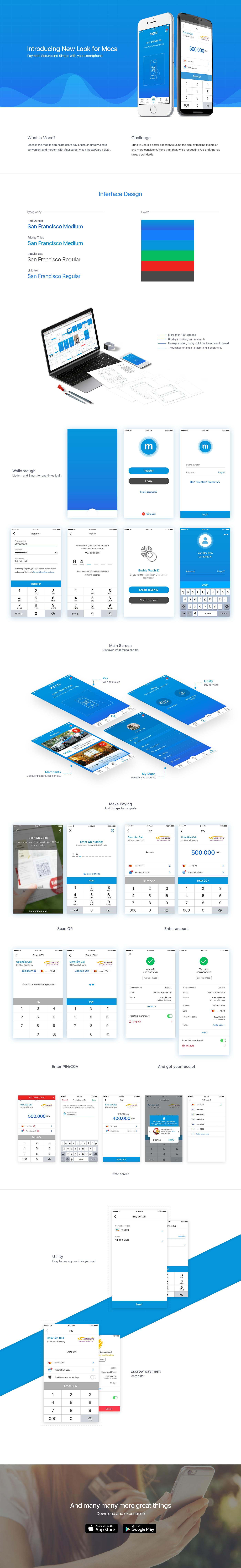 payment MOCA qrcode UI ux product financial app design haitran Fintech