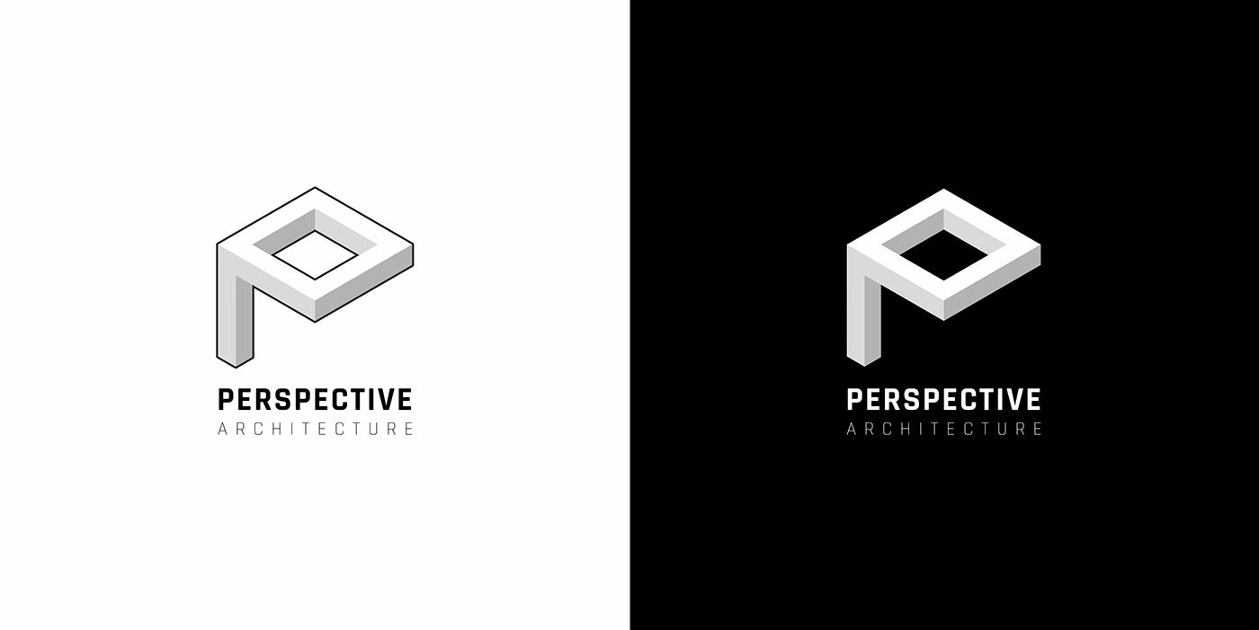 logo vector architecture Perspective branding  identity architect