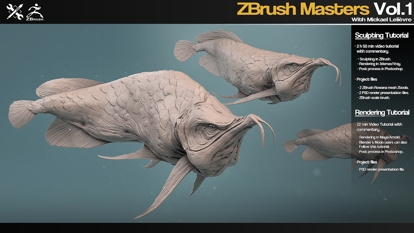 ZBrush Masters Vol 1 Tutorial series on Behance