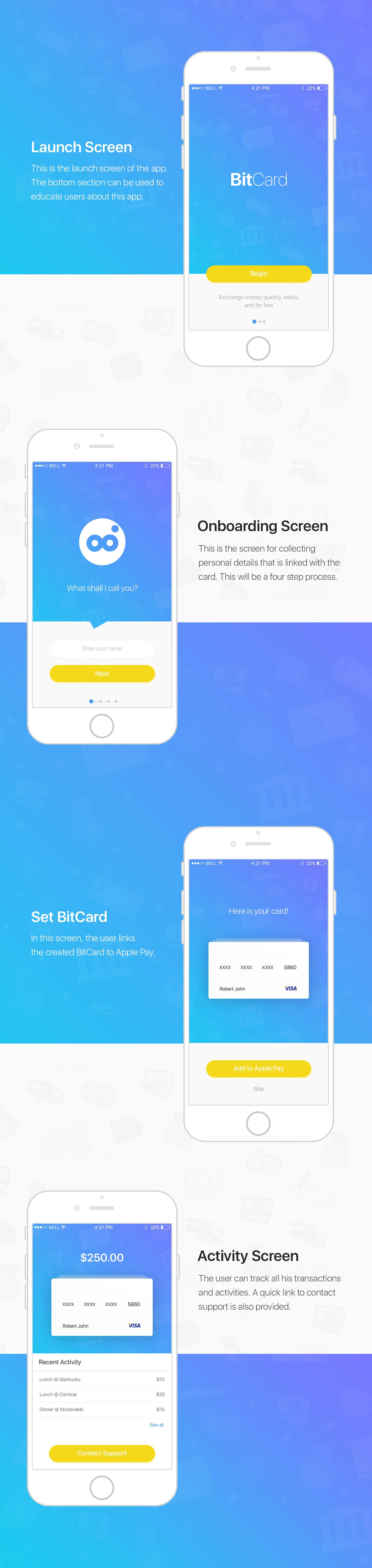 Mobile app iOS App ui design UX design user interface design