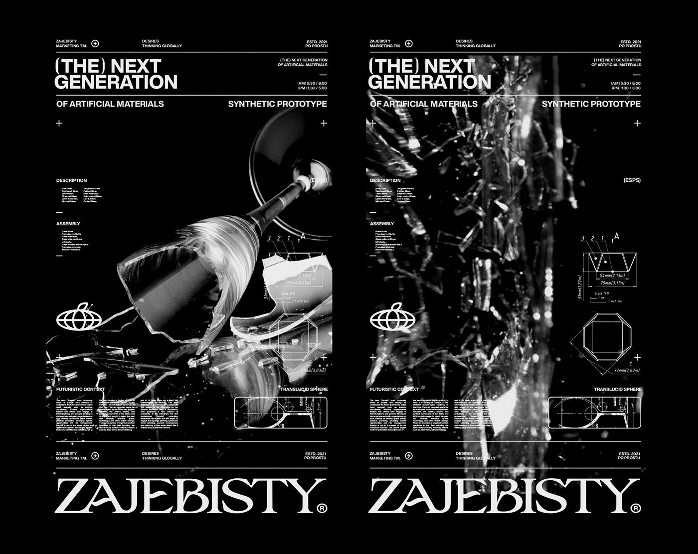 Brutalism company identity marketing   modern street wear typography   Urban