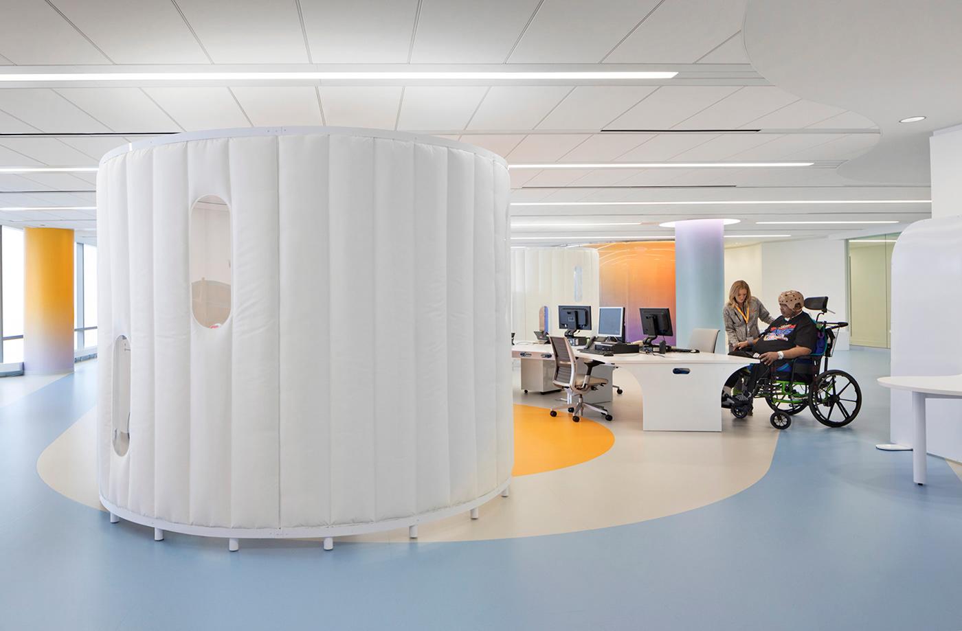 architecture chicago design environmental graphics graphic healthcare hospital Interior Architecture Interior rehabilitation