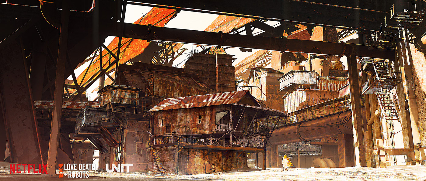 city decay dust rust Sciencefiction Scifi SF Street town