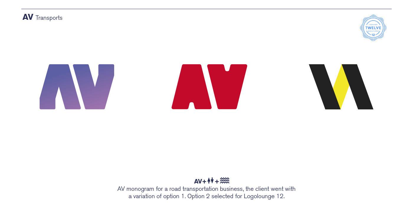 monogram-design-for-transports-firm
