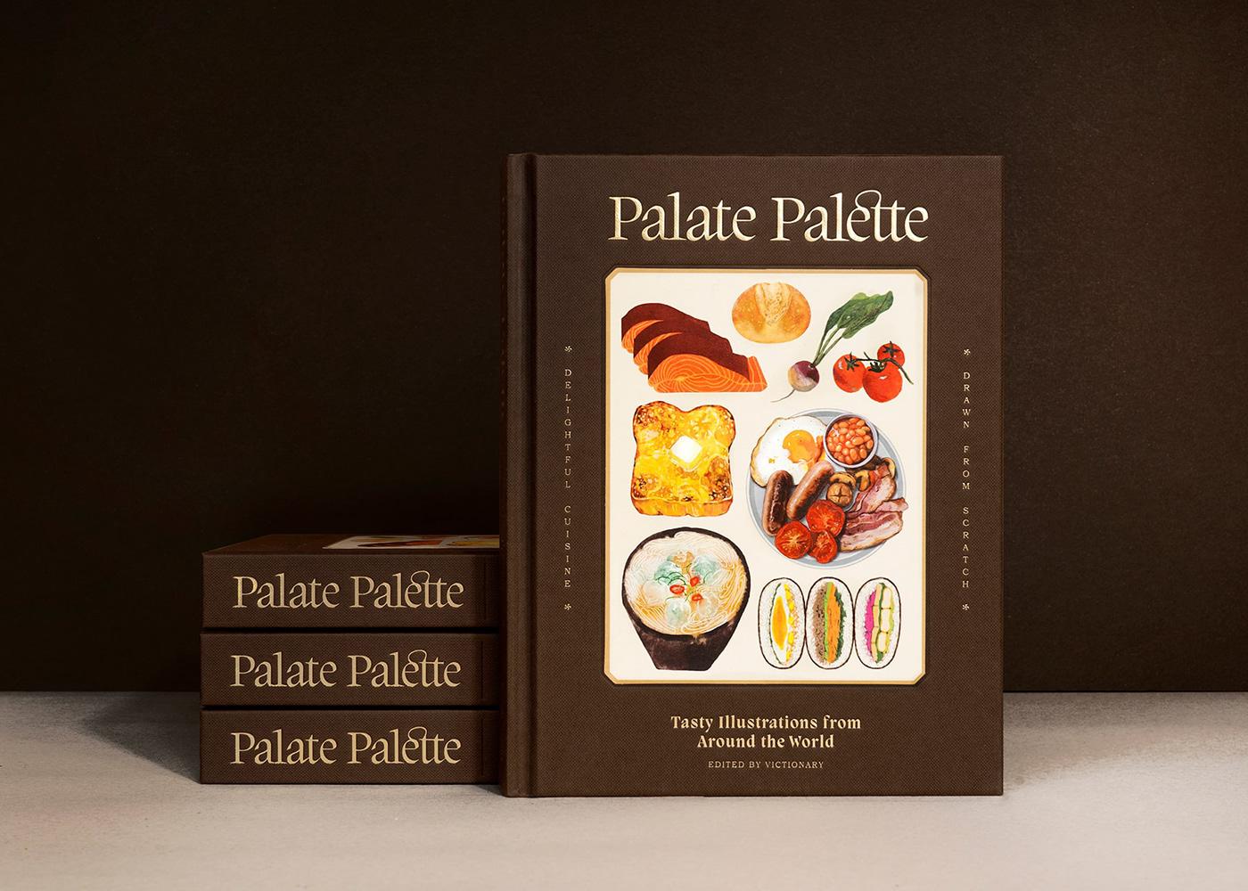 book design breakfask cuisine dishes food book food illustration ILLUSTRATION  palett recipe