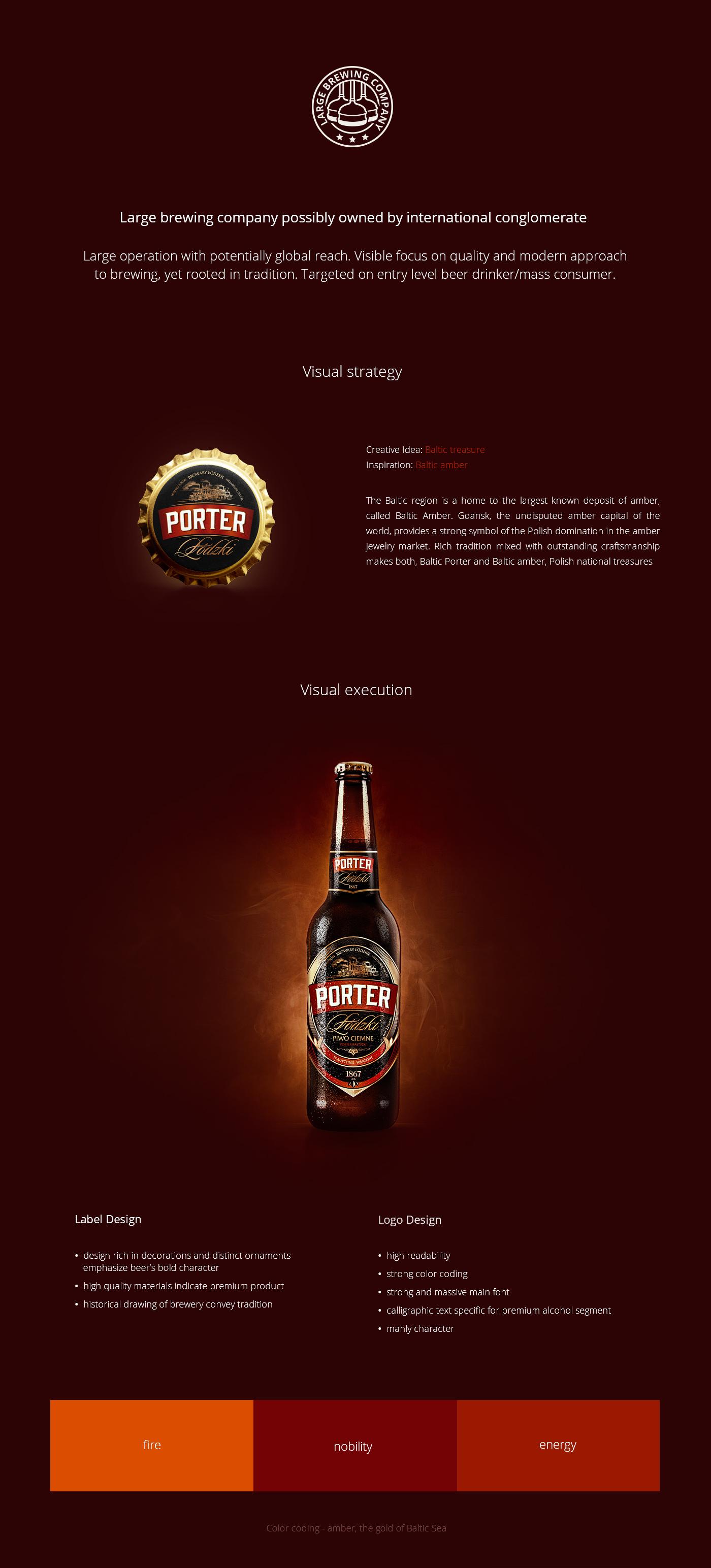 Baltic porter case study fuse Collective  design lodz poland beer