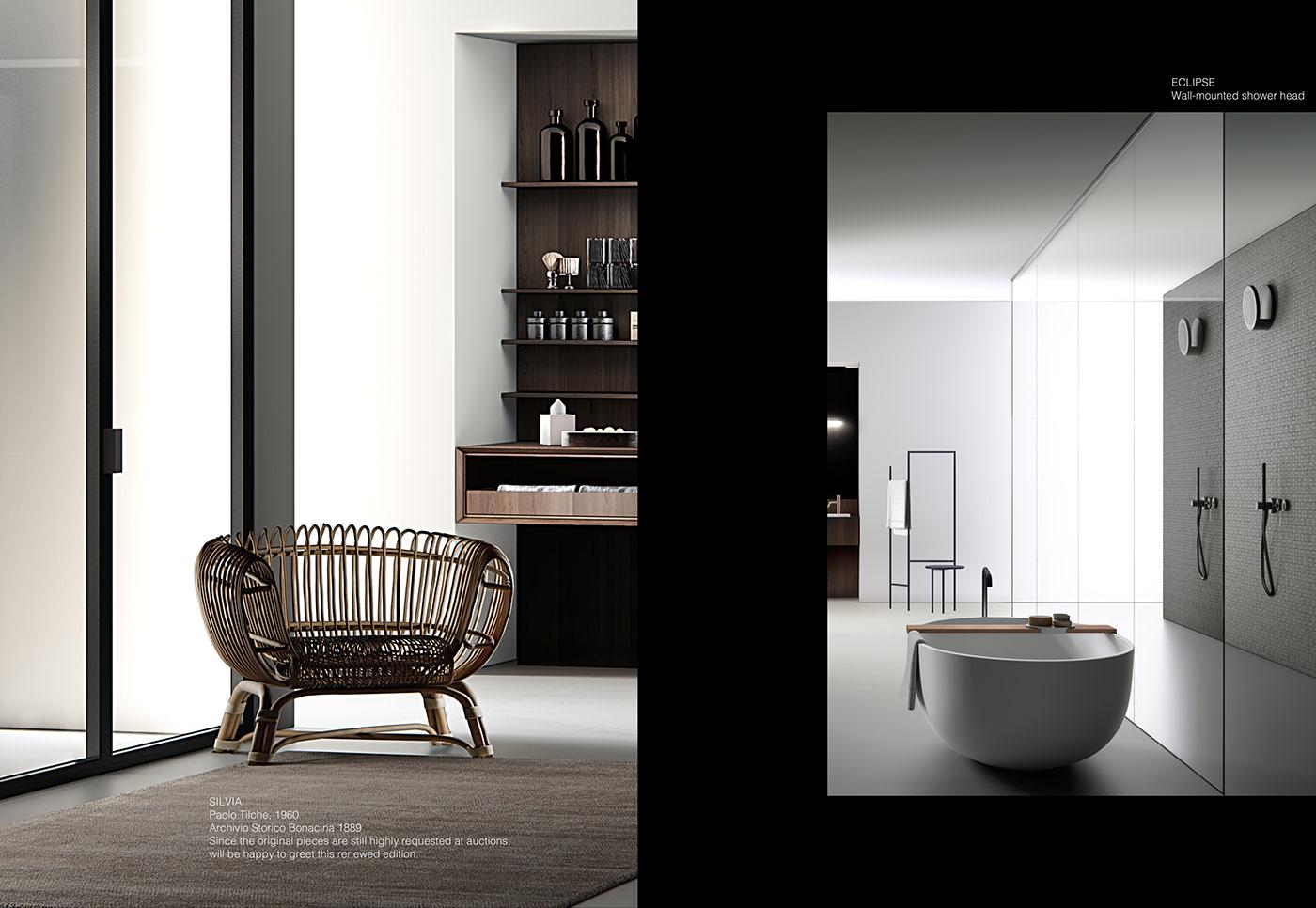 bathroom bathroom-unit bathtube Boffi brochure Catalogue Faucet sanitary wardrobe