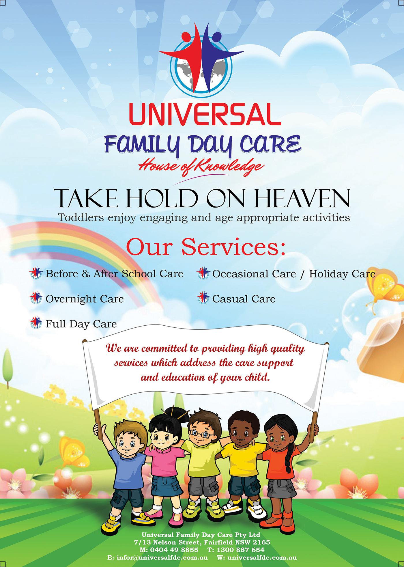 Flyer Design for Universal Family day care on Behance
