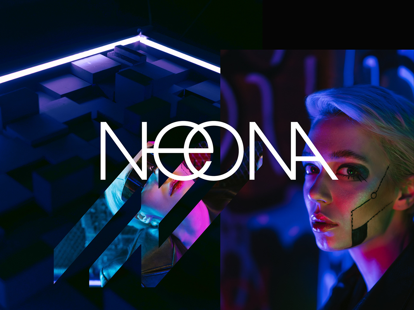 artist Cyberpunk futuristic identity light Logo Design minimal logo N letter neon vissual