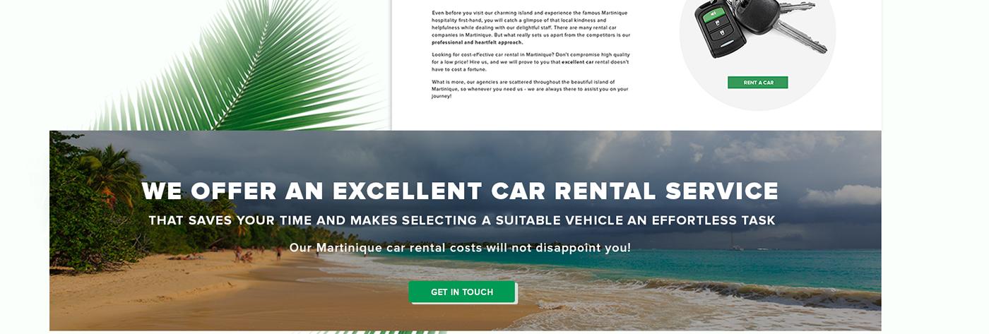 ux UI car rental agency Martinique engine industrial