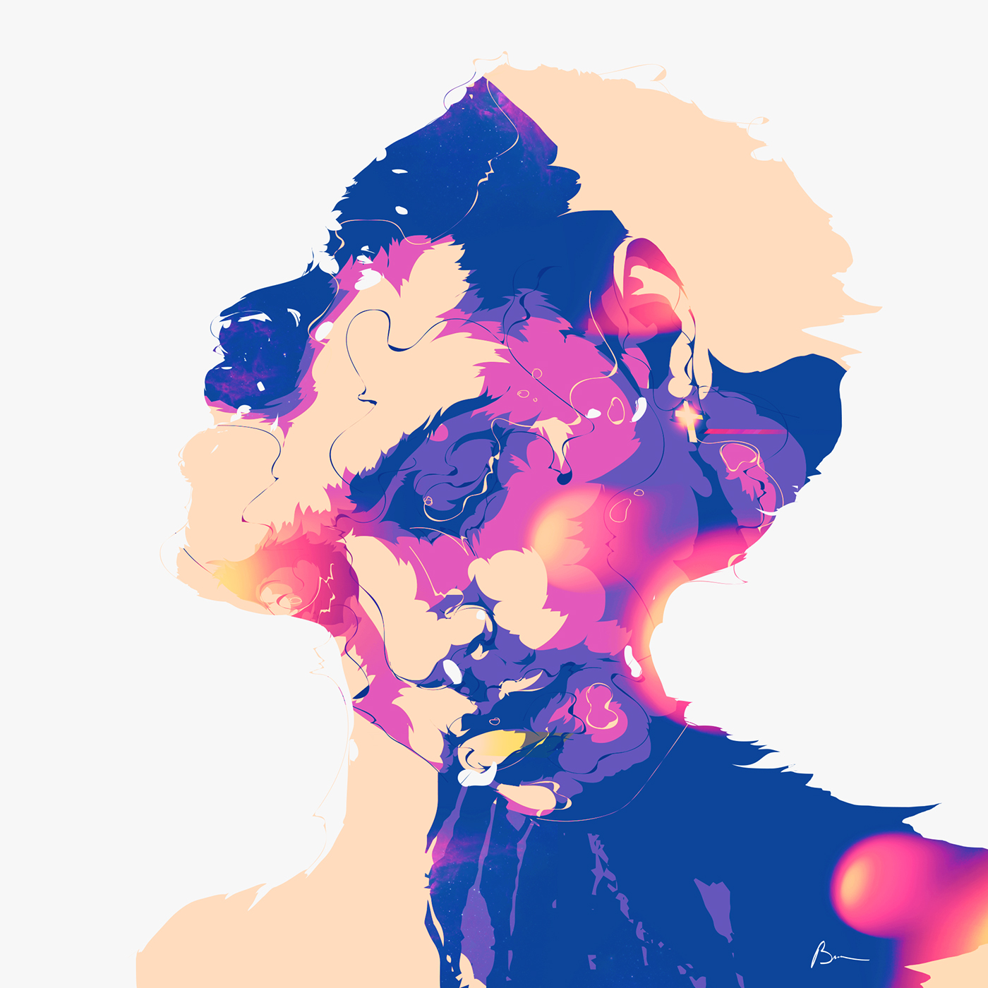 Kwabs portrait after effects gif Fun aniwall face colors photoshop