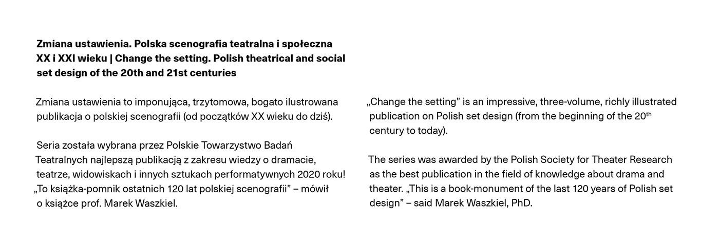book,InDesign,Layout,publication,scenography,series,Theatre