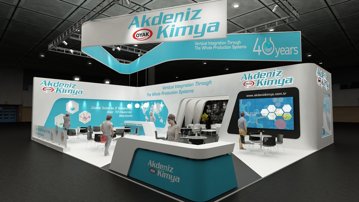 Exhibition Stand Modules : Akdeniz kimya on behance