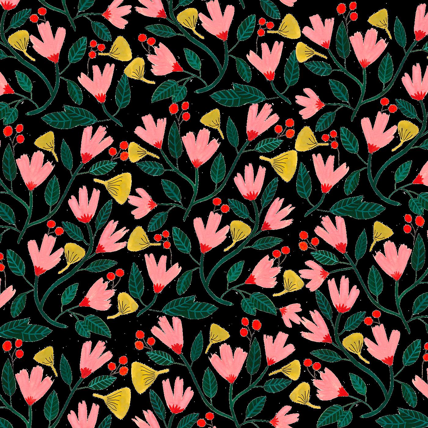 floral pattern on behance