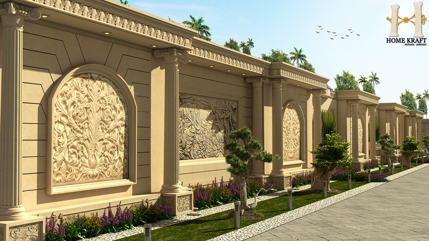 how to make boundary wall