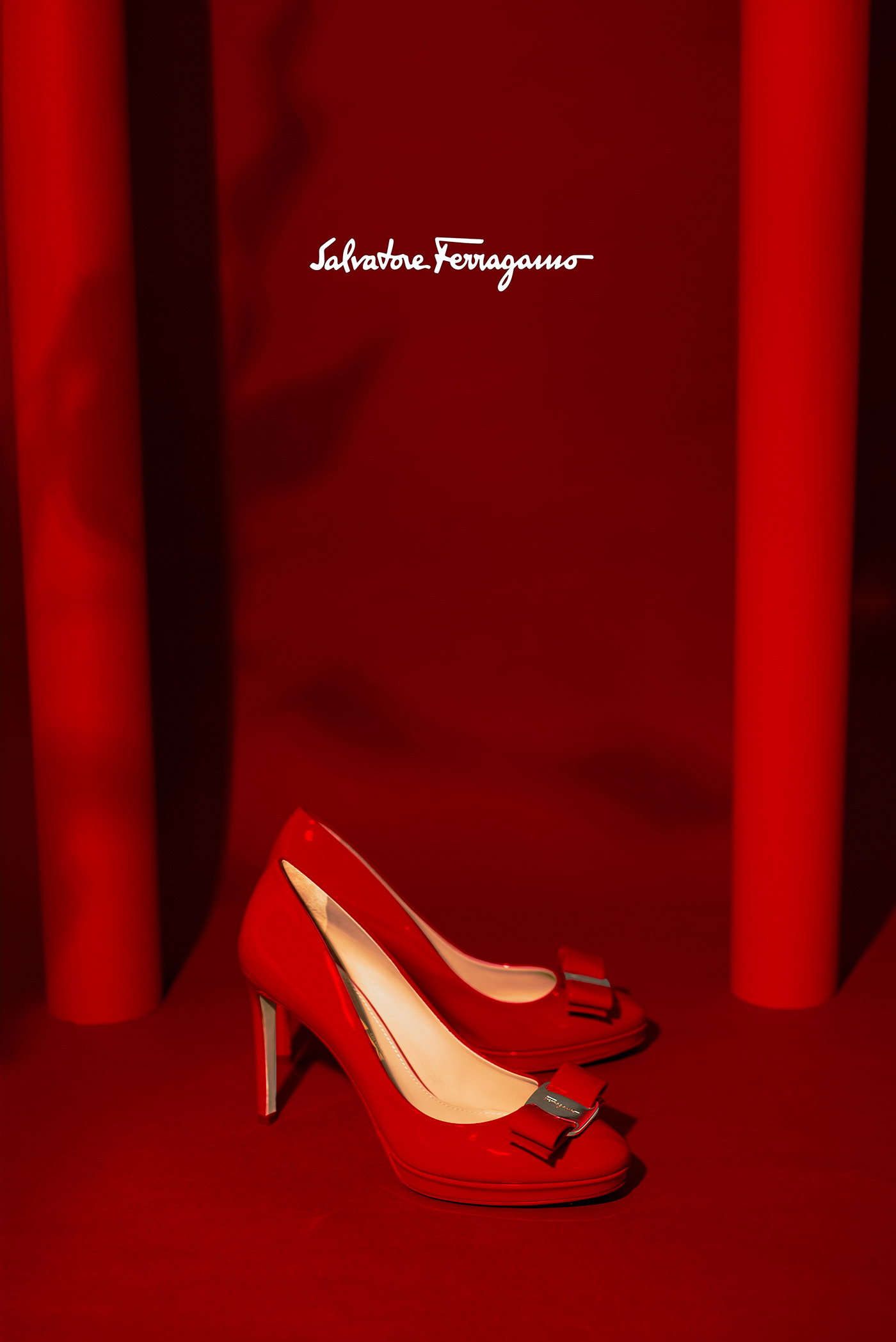ad art direction  Fashion  Ferragamo luxury Photography  product red retouch styling