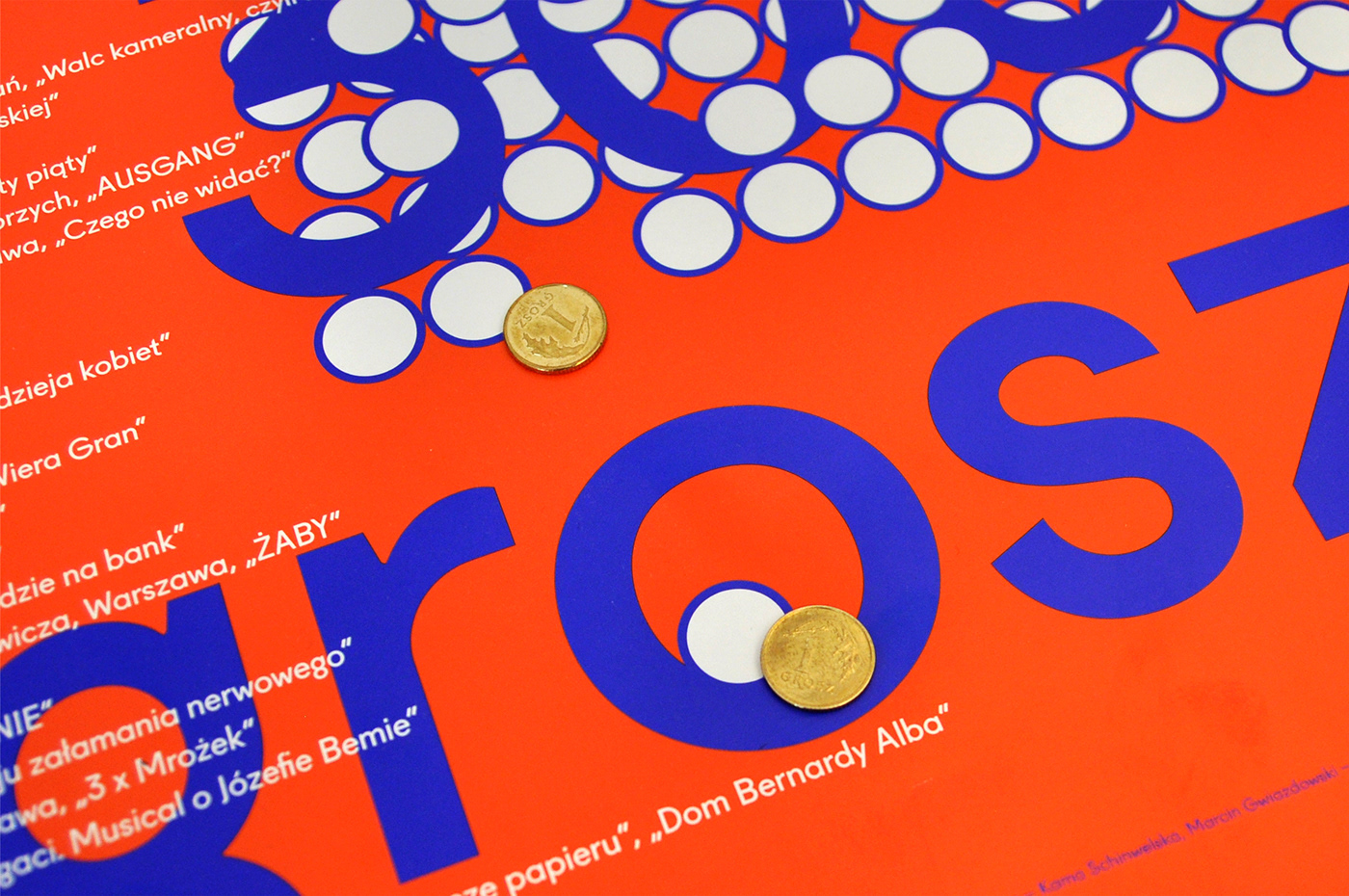coins ticket Theatre identity poster animation  colour prints simple series