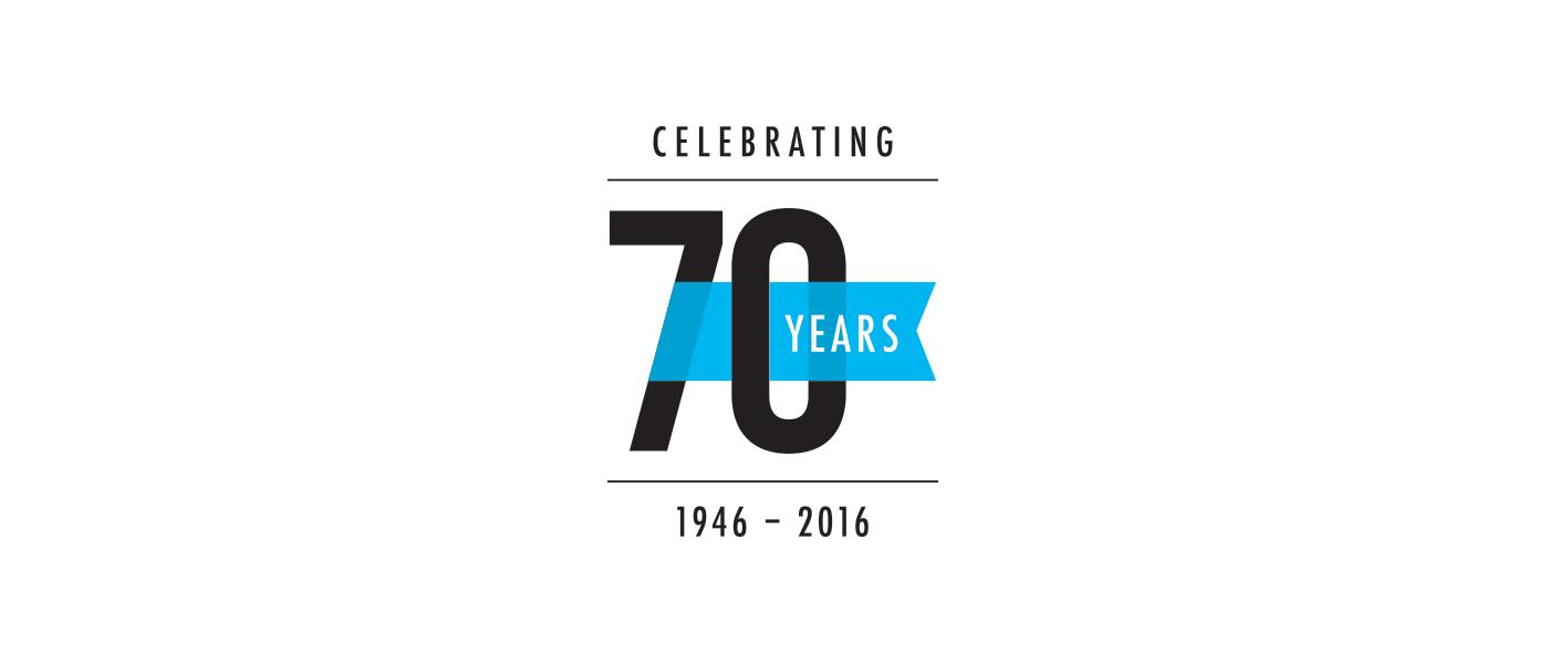 logo,anniversary,70 years,anniversary logo,Logotype