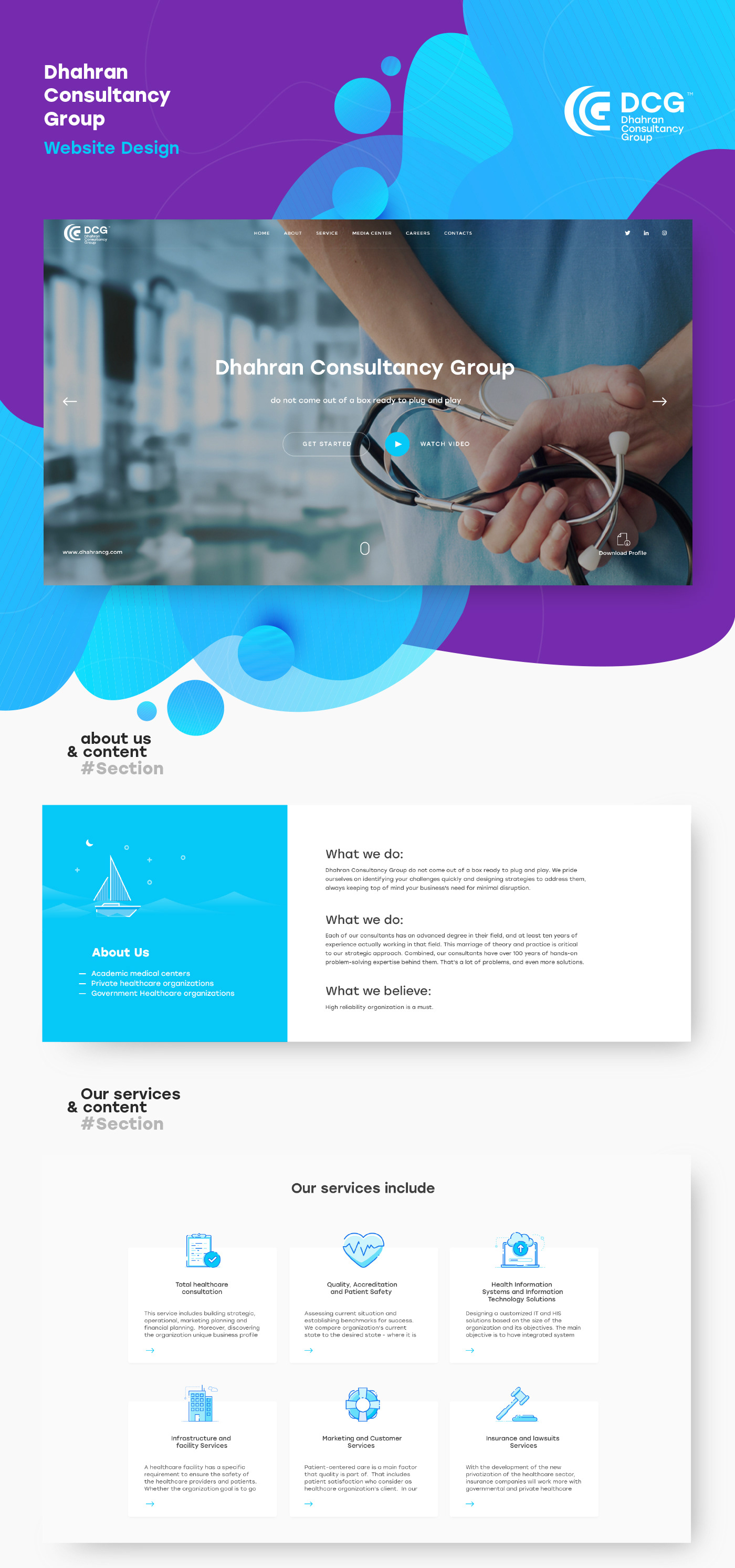 clean flat design healthcare interaction UI ux Web Design