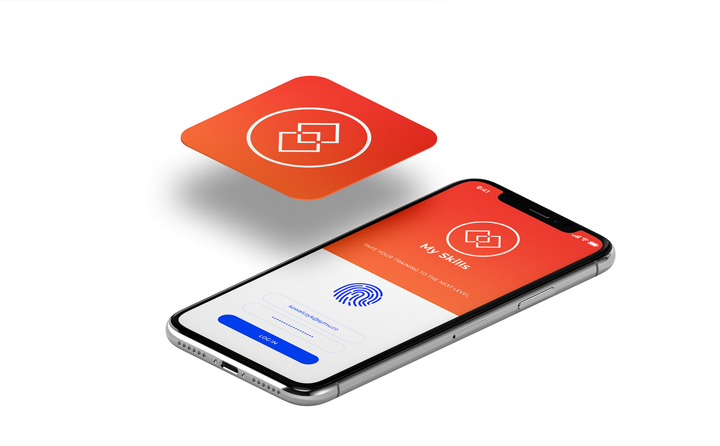 mobile UI sport Interface branding  smartwatch brand