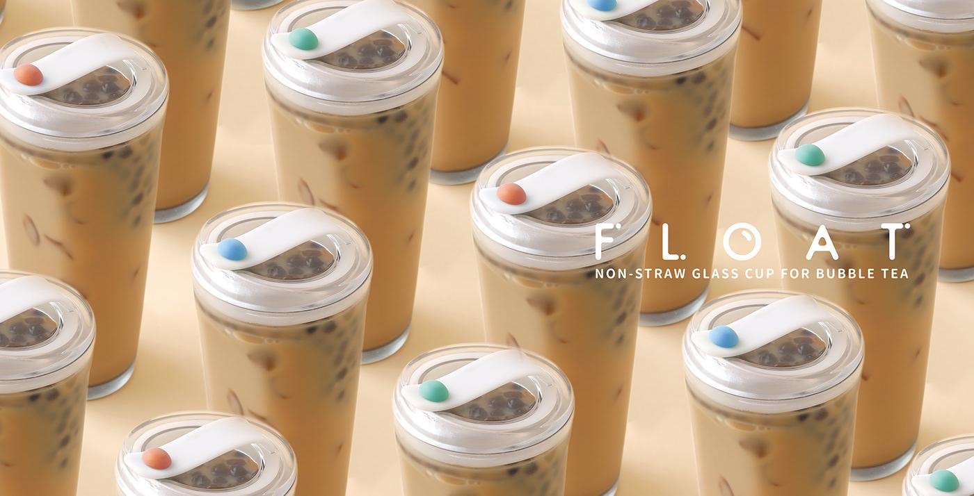 glass cup bubble tea tea fruittea product clear ecofriendly Socialdesign circular